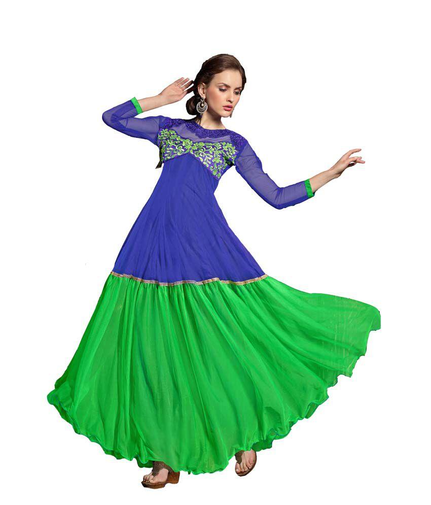 Parisha Blue Net Gowns
