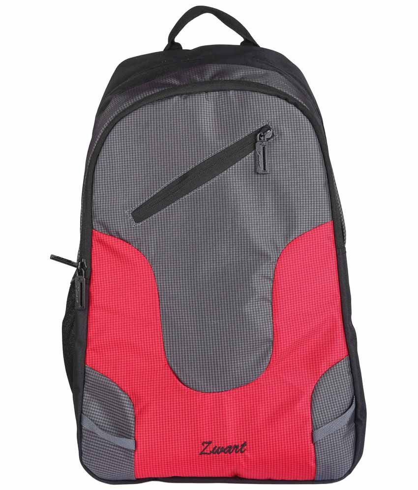Zwart UDIVO-R Pink & Black Laptop Backpack