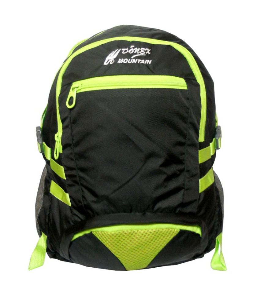 Donex Black Laptop Compatible Backpack
