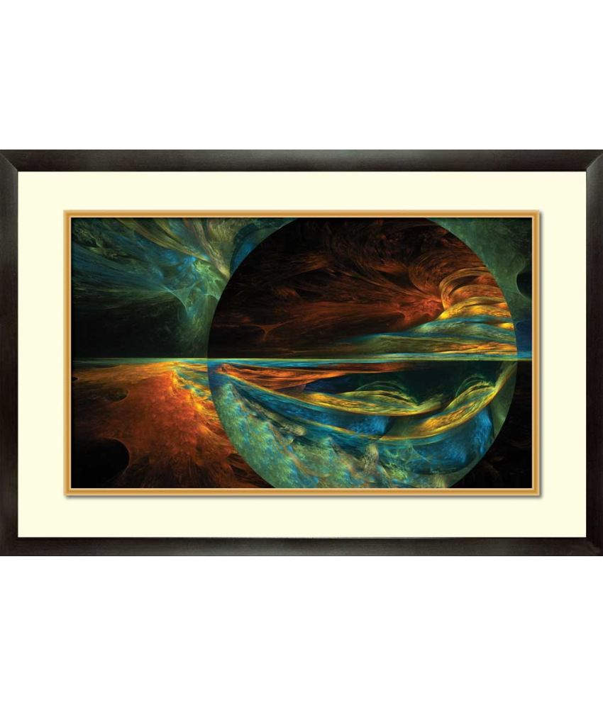 Mataye Graphics Floral Acrylic Modern Art Painting With Frame