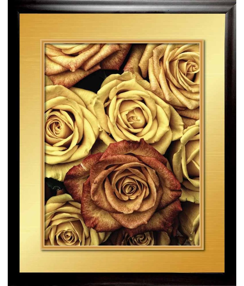 Mataye Graphics Bunch Of Roses Designer Painting With Frame