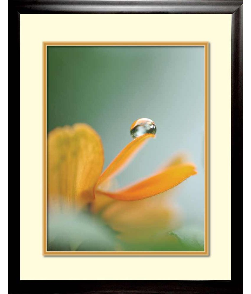Mataye Graphics Water Droplet Designer Painting With Frame