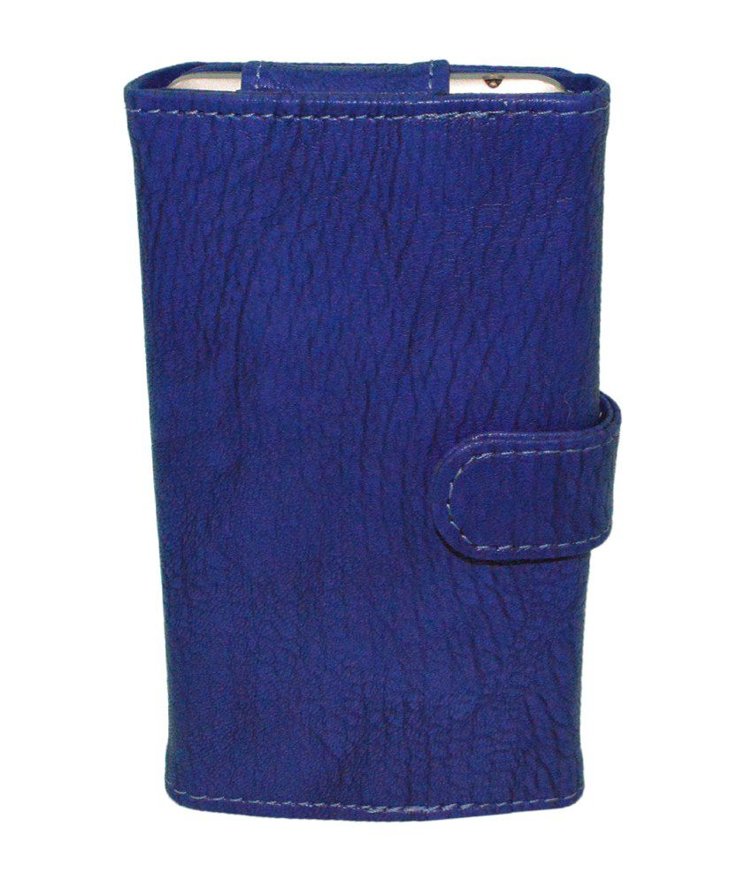 Totta Leather Pouch With Card Holder For HTC Desire 501 Dual Sim - Blue