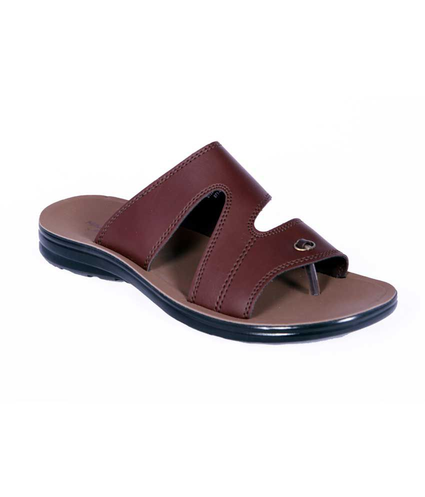 e24f4007b93e Bata Brown Synthetic Leather Men Sandals Price in India- Buy Bata Brown  Synthetic Leather Men Sandals Online at Snapdeal