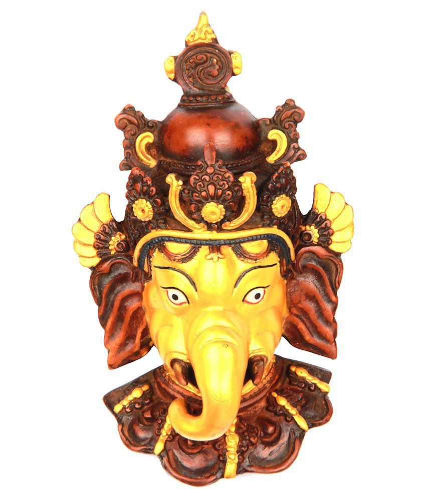 The Nodding Head Elephant Head Lord Ganesha - Golden