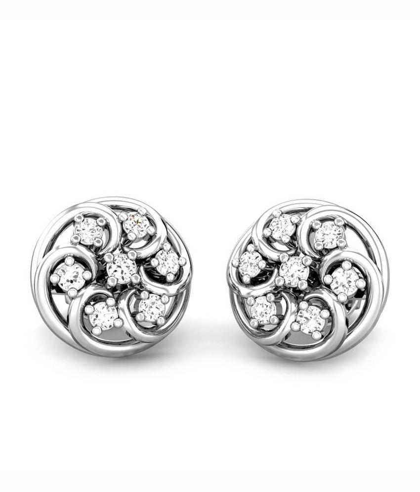 Candere The Windcham Diamond Earring White Gold 18K