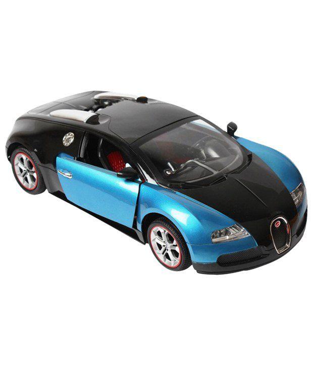 Black Bugatti: Webby Blue & Black Bugatti Veryon Car With Remote Control