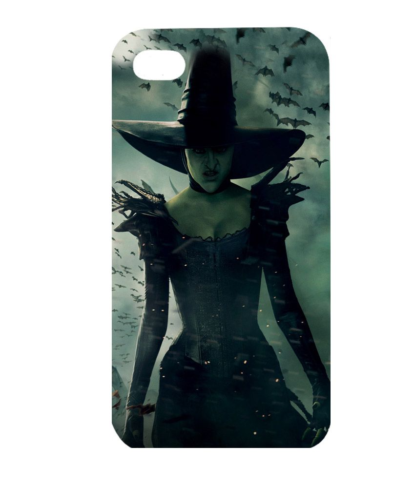 Instyler 3D Back Cover for Apple iPhone 4 - Green