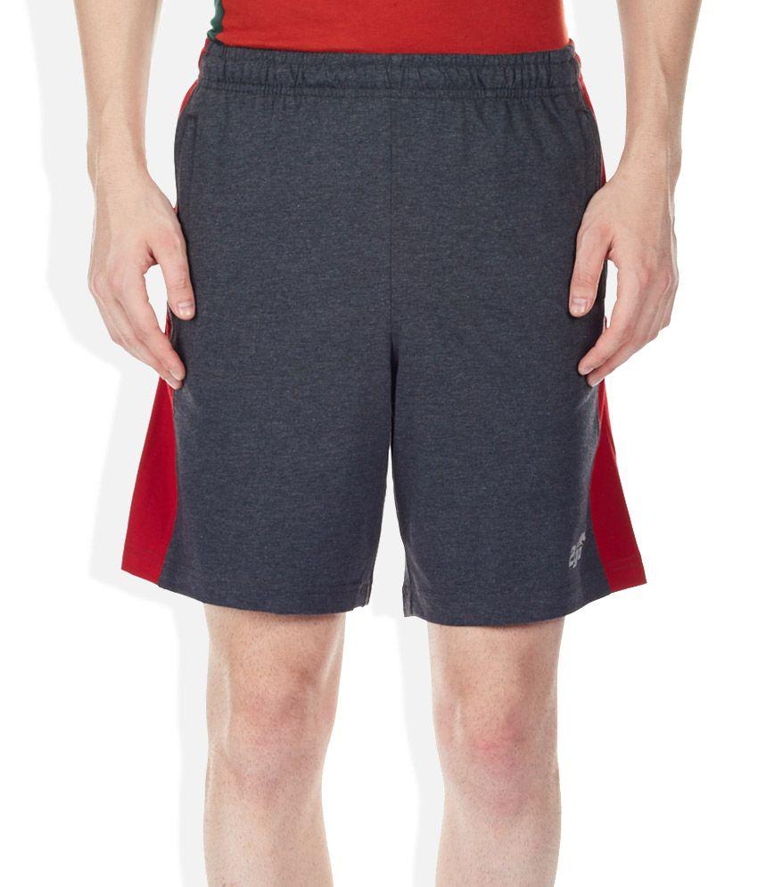 2go Grey Solid Shorts