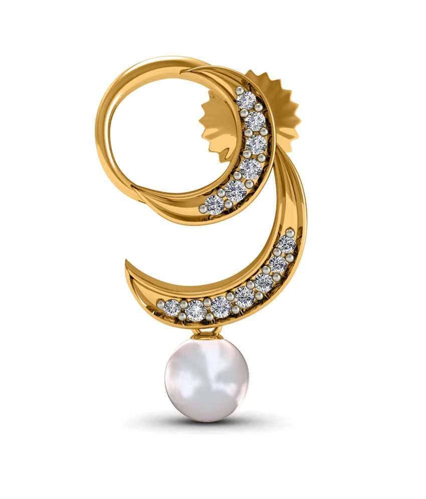 Diaonj 14kt Gold & Diamonds Colour Spark Studs Earrings