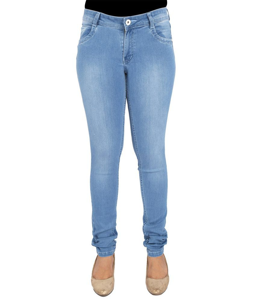 609fea657e8 Buy FCK-3 Blue Denim Lycra Jeans Online at Best Prices in India - Snapdeal