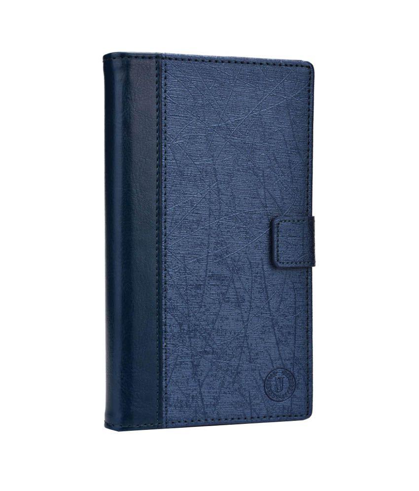 Jo Jo Synthetic Flip Cover For Huawei Ascend G740 - Dark Blue