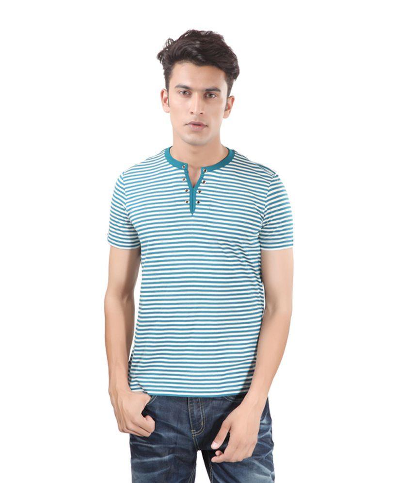 Uni Style Image Green Cotton T-shirt