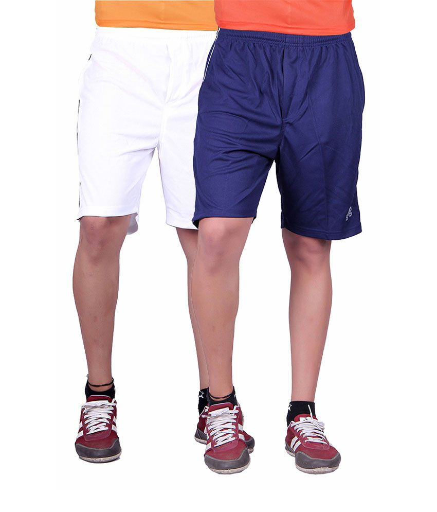Gag Wear Multicolor Polyester Solids Men's Short - Pack Of 2