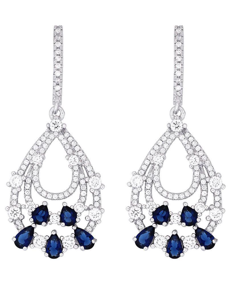Gemtogems Silver 92.5 Sterling Silver Elegance Earrings