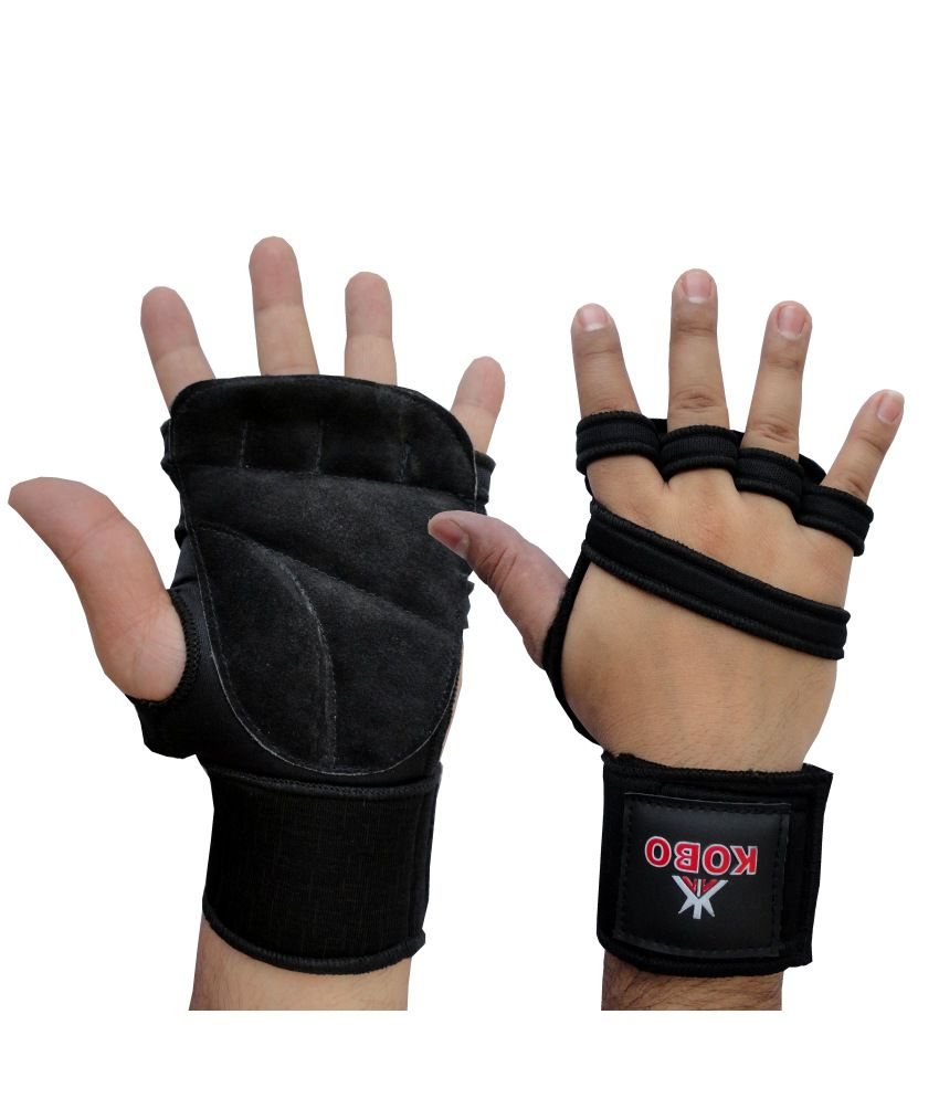 Weight Lifting Gloves: Kobo Weight Lifting Gloves Neoprene Padded: Buy Online At