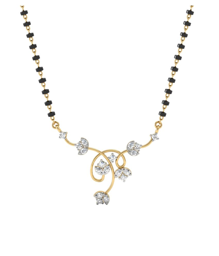 Vachya 18Kt Gold Diamond Mangalsutra With Chain
