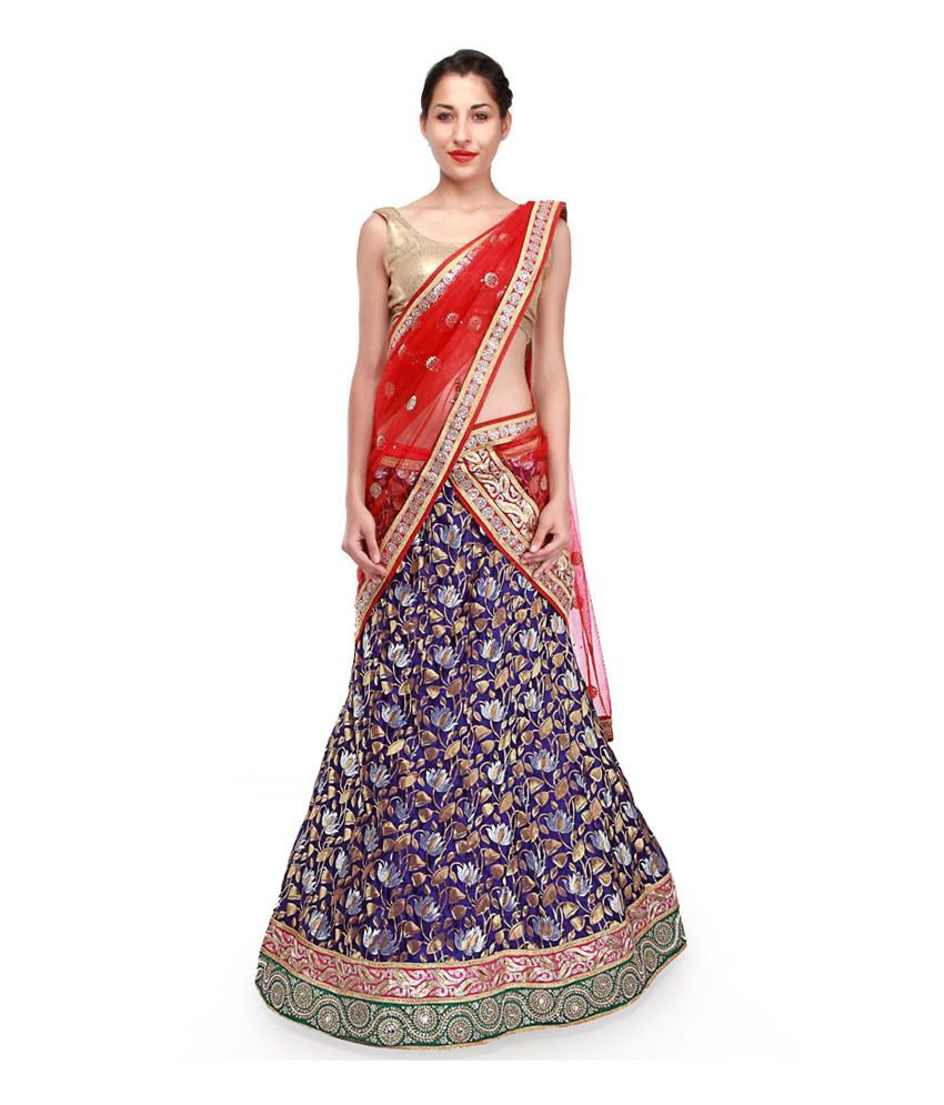 df247d2f66 Kalkifashion Grey and Beige Brocade Lehenga - Buy Kalkifashion Grey and  Beige Brocade Lehenga Online at Best Prices in India on Snapdeal