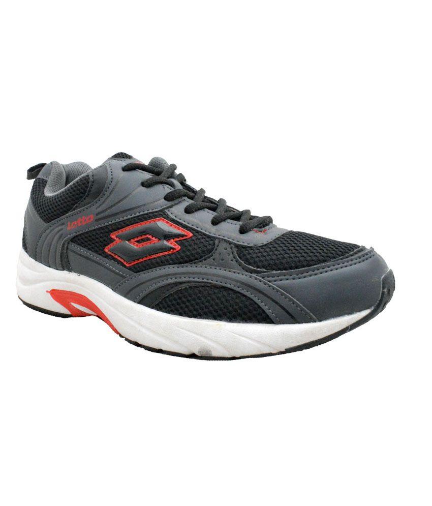 lotto black sport shoes price in india buy lotto black