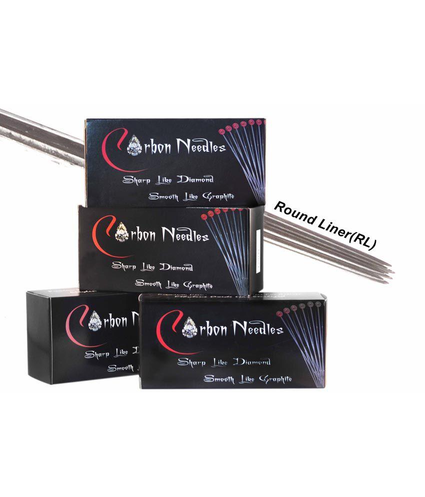 Carbon Tattoo Needles Box Of 50 Needles Size - 3rl (round Liner ...