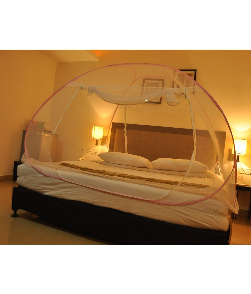 APNA QUALITY MOSQUITO NET DOUBLE BED PINK