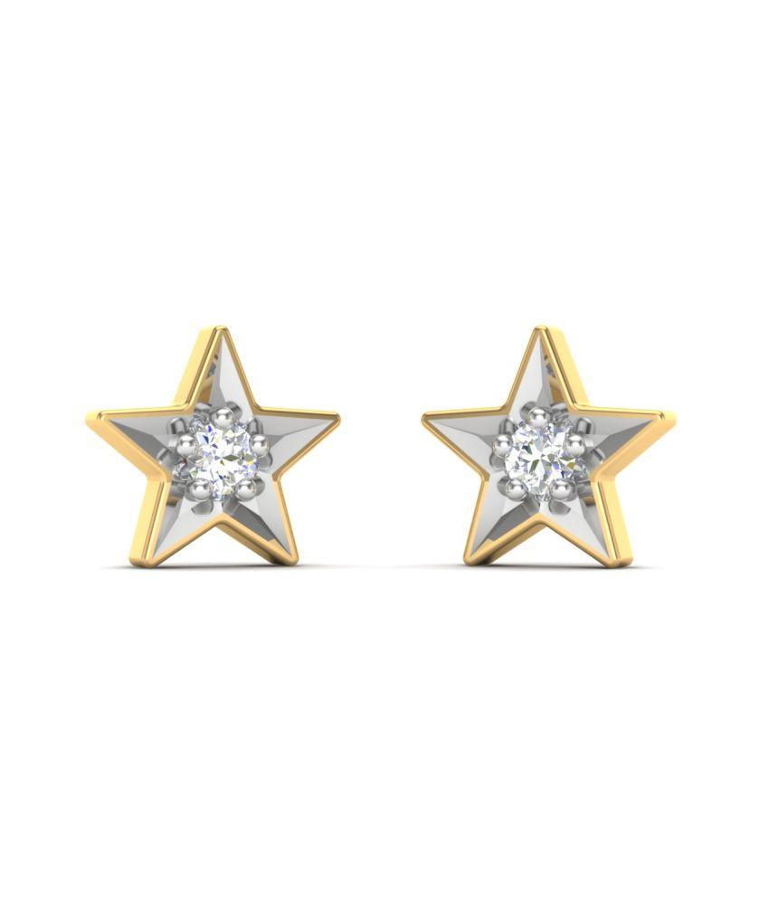 theme jewels star er 0016 certified real diamond 18kt. Black Bedroom Furniture Sets. Home Design Ideas