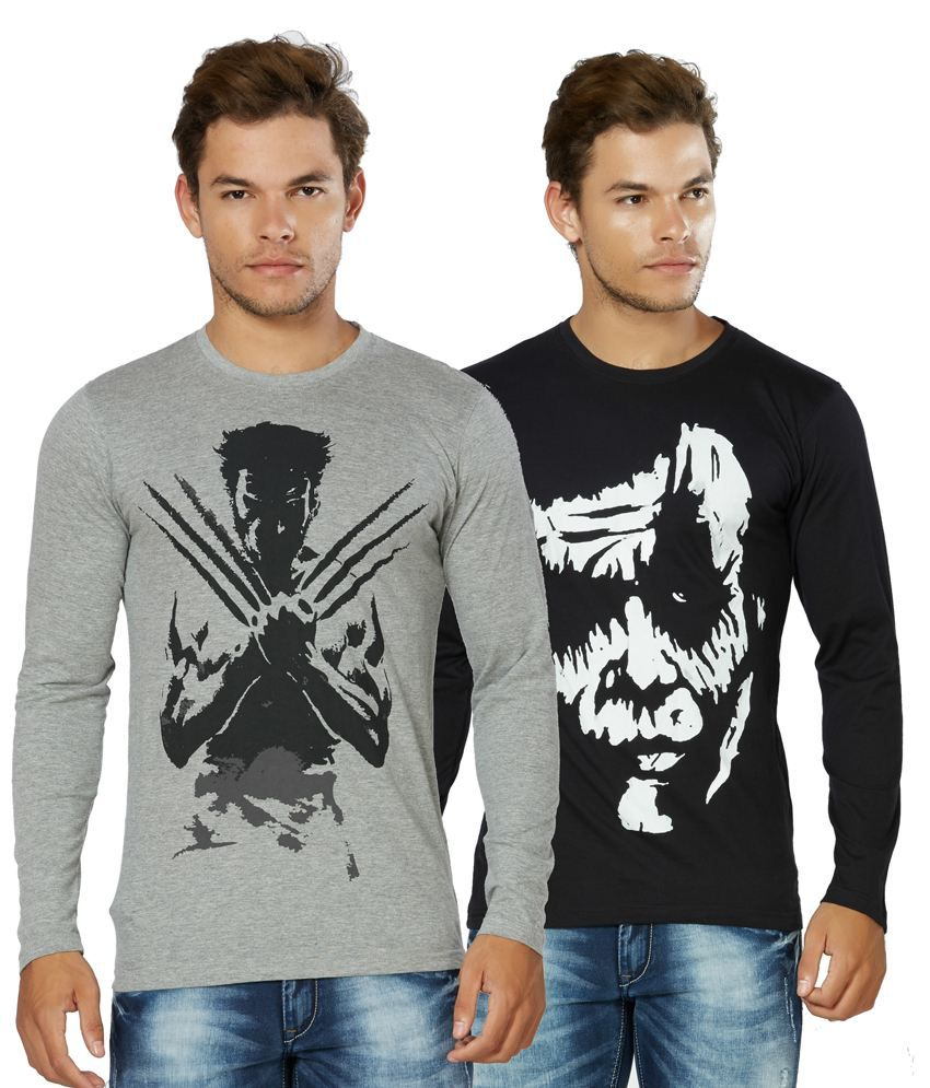 Alan Jones Printed Cotton T-Shirt - Pack of 2