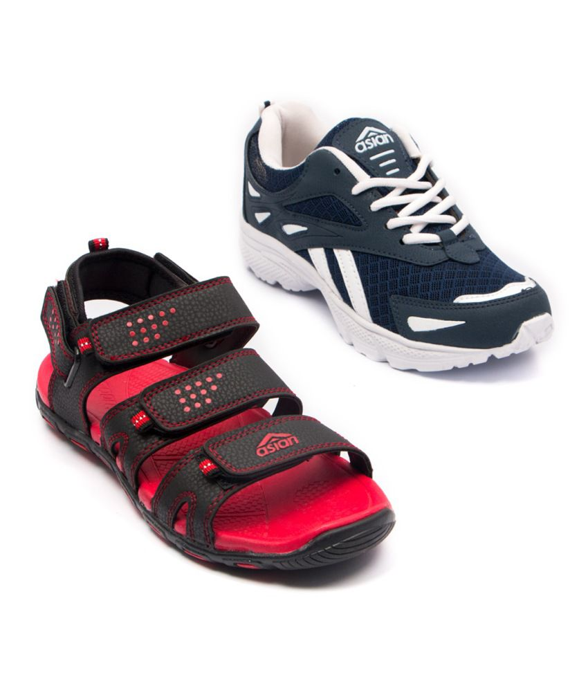 Asian Sports Shoes and Sandals Combo