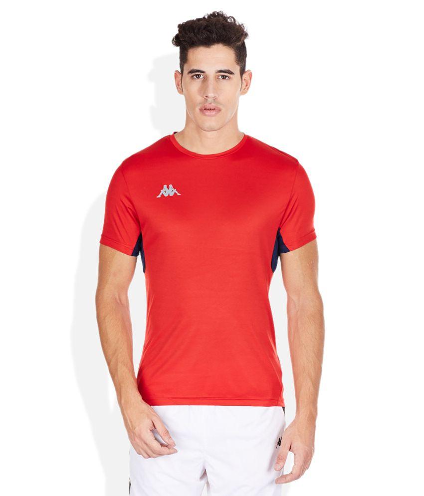 Kappa Red Round Neck T-Shirt