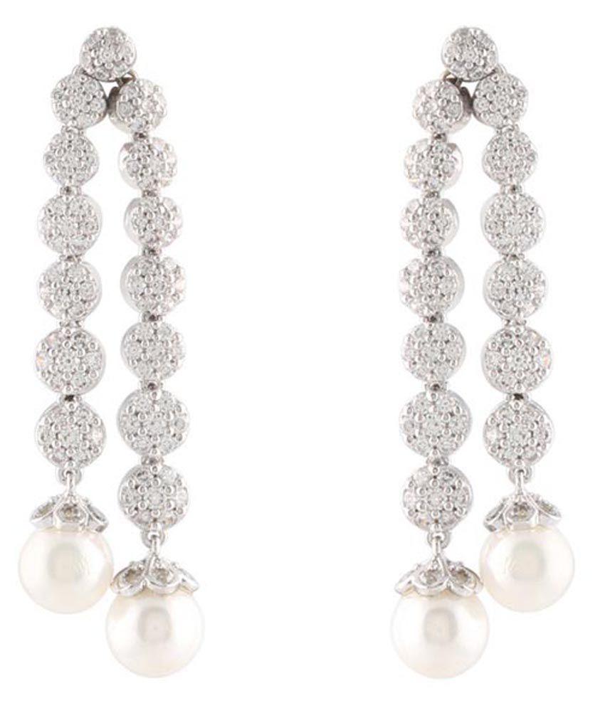 Magic Mirror White Designer Earrings