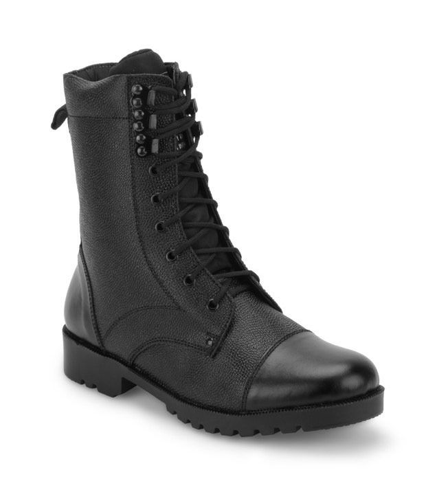 New Advance Shoe Factory Black Leather Lace Men Boots