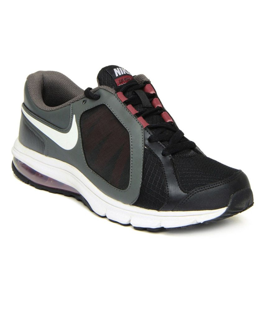 nike gray synthetic leather sport shoes