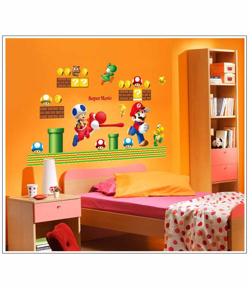 Oren Empower Super Mario Cartoon Child Bedroom Wall Sticker ...