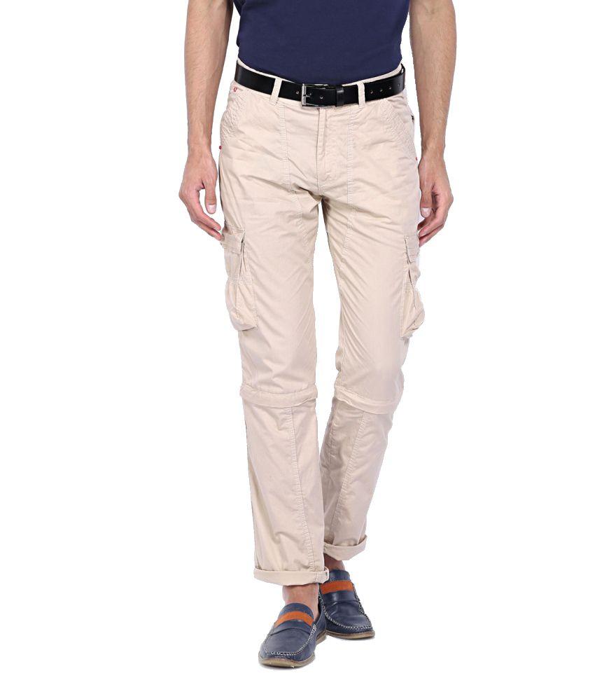 Sports 52 Wear Beige Cotton Cargo Pants