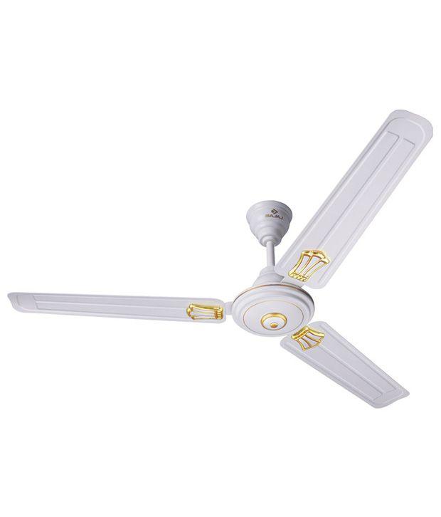 Bajaj 48 Bahar Deco Ceiling Fan White
