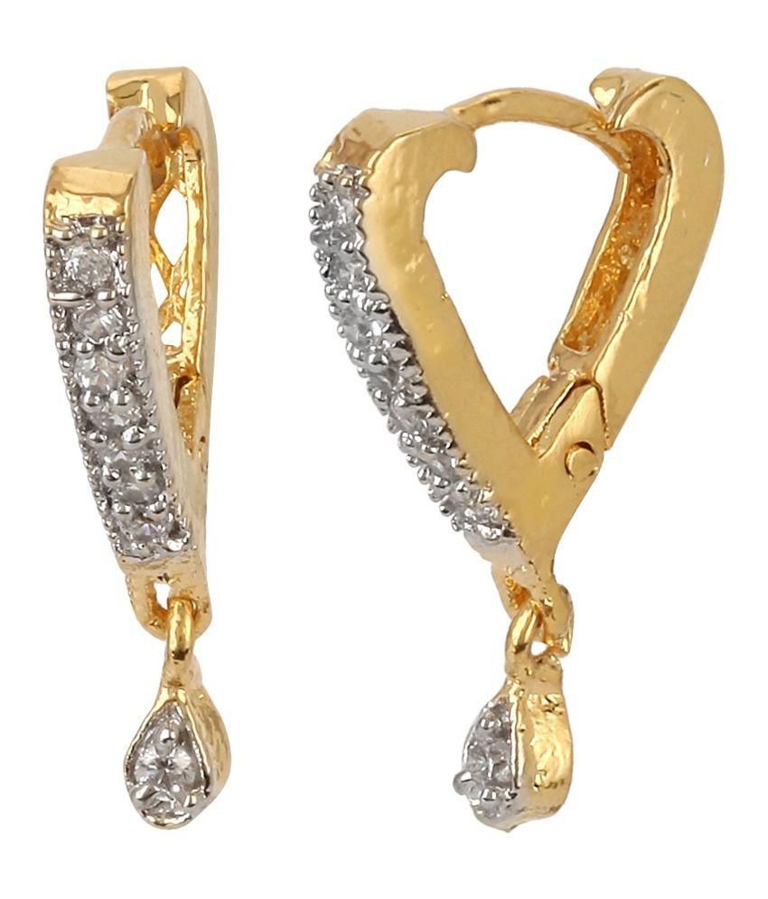 renaissance traders golden earring combo of 6 american diamonds