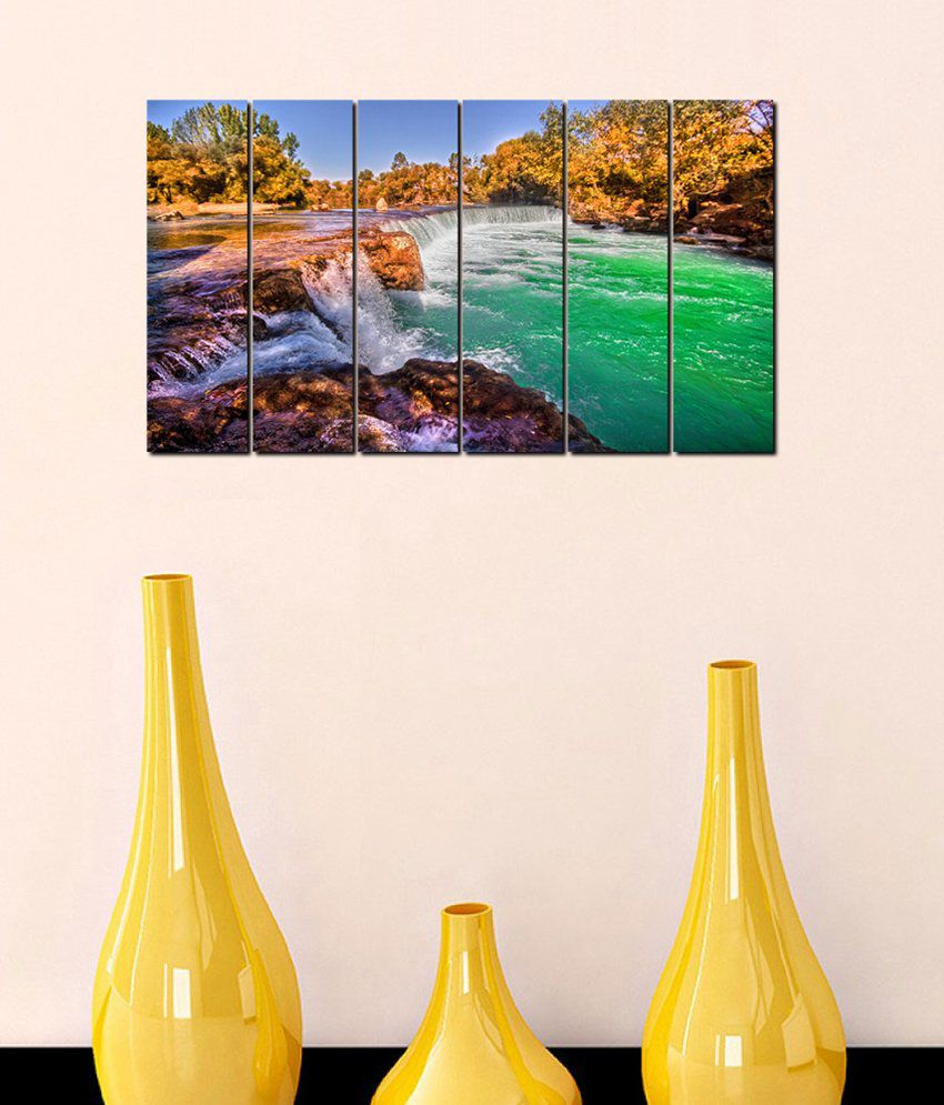 999Store Glossy Paintings With Frame Set of 6