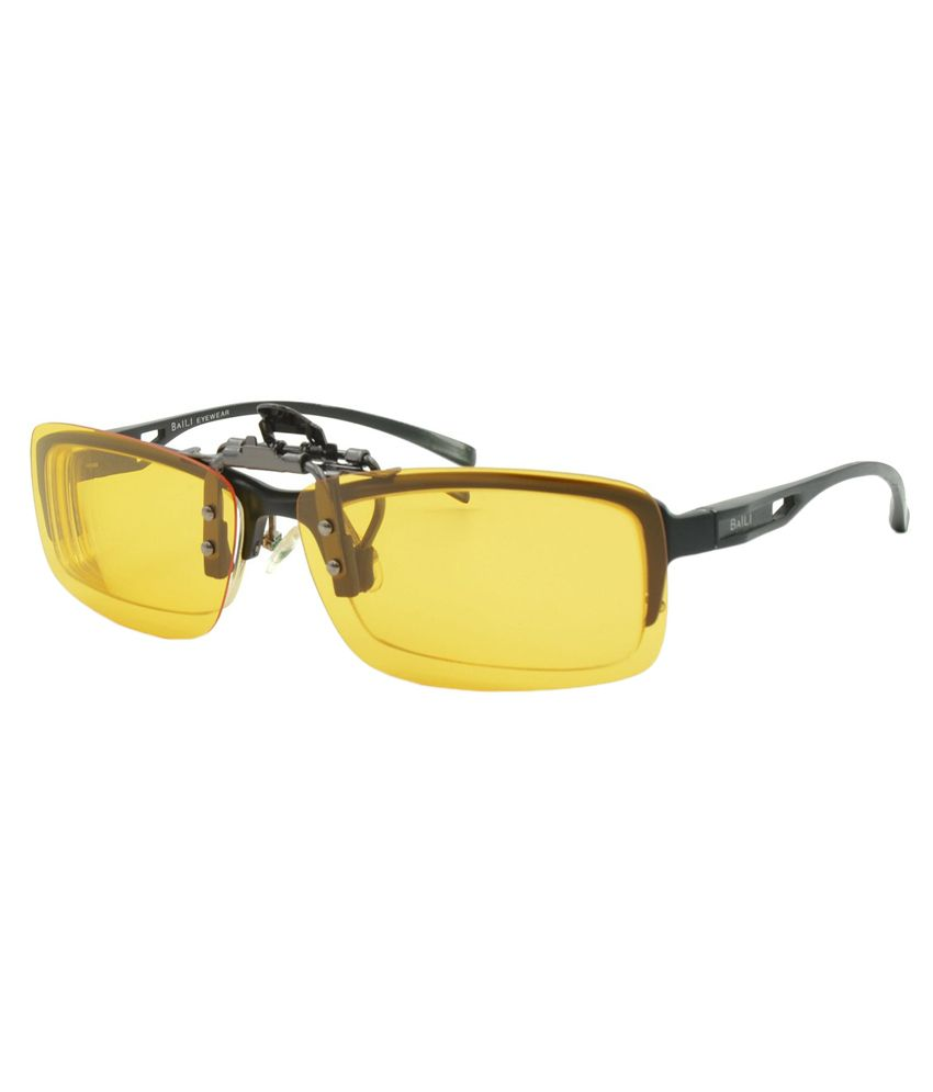 55a4cd7341c3 ... Enem Yellow Night Vision Polarized Clip-on Flip-up Aviator Driving  Sunglasses ...