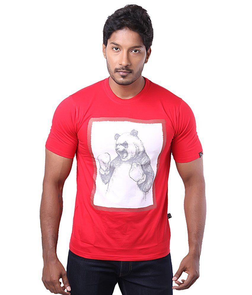Fx4 Red Cotton T Shirt