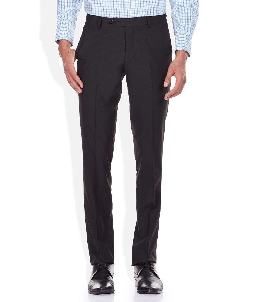John Players Black Slim Fit Trousers