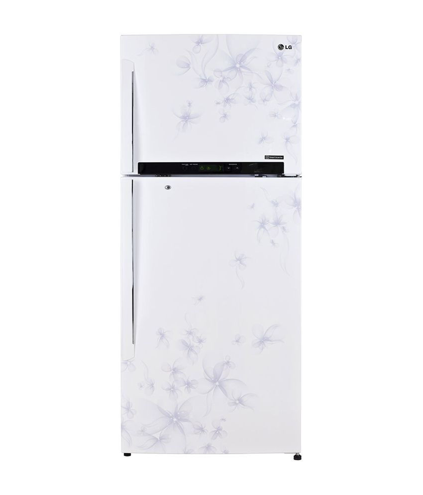 Lg 420 Ltr M472gdwl Frost Free Double Door Refrigerator Dafodill White