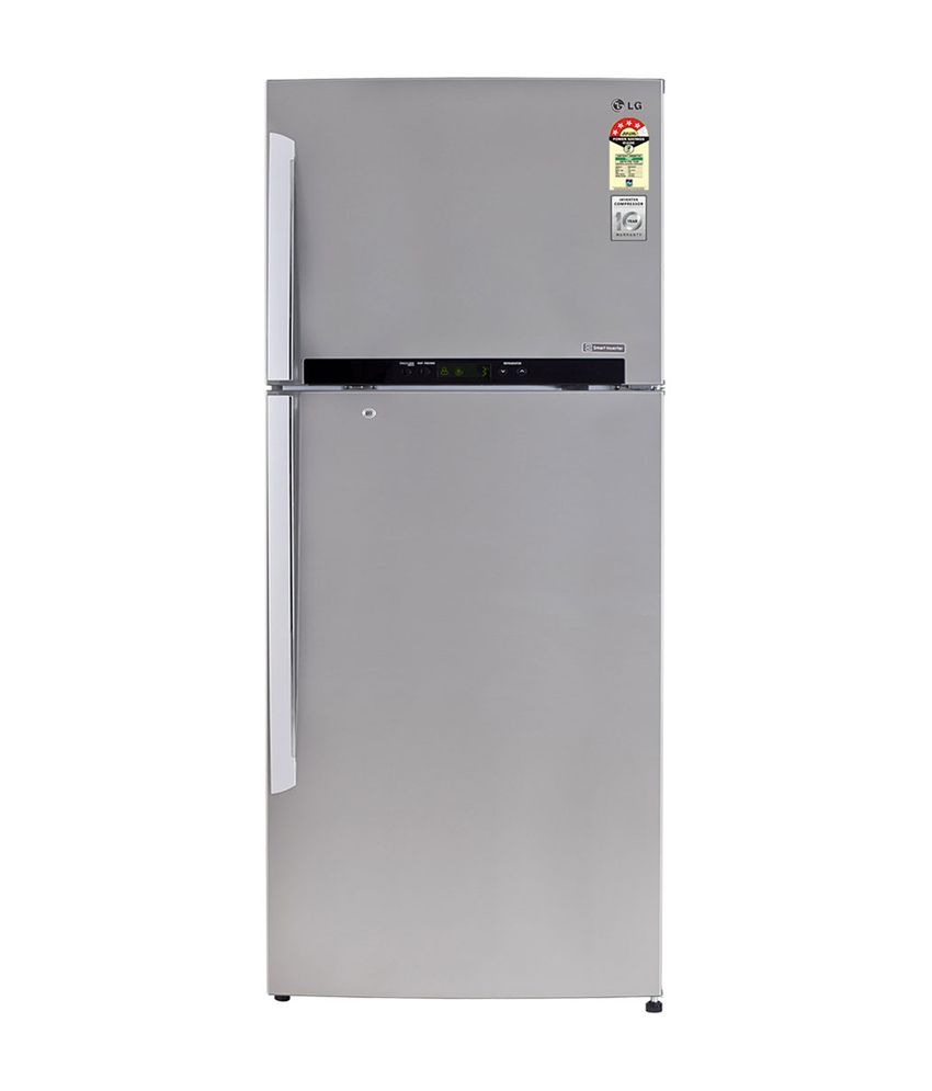 LG 420 Ltr. M472GNSL Frost Free Double Door Refrigerator - Noble Steel