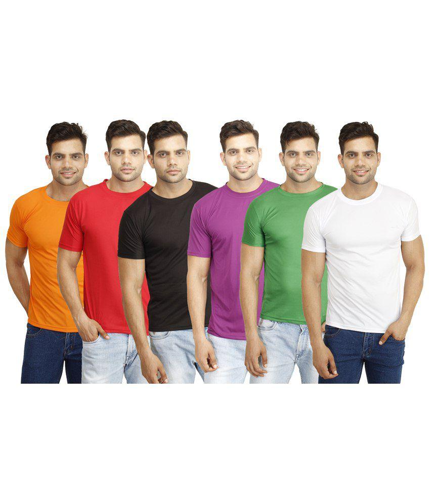 Eprilla Trendy Pack of 6 Multicoloured T Shirts for Men