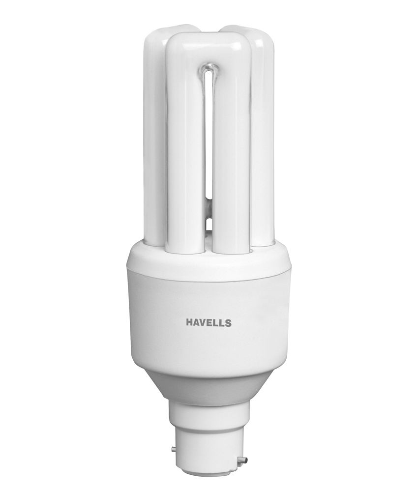 Havells White GLASS 20W CFLs Bulbs - Pack Of 10 Image