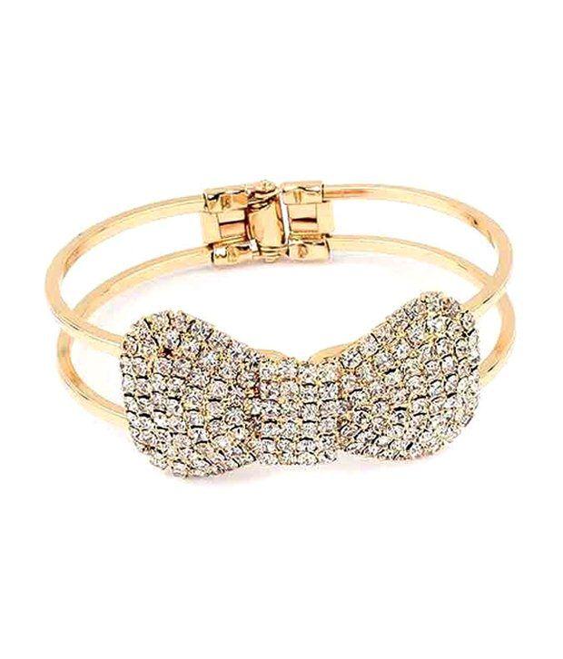 Amour Sparkling Crystal Studded Bracelet