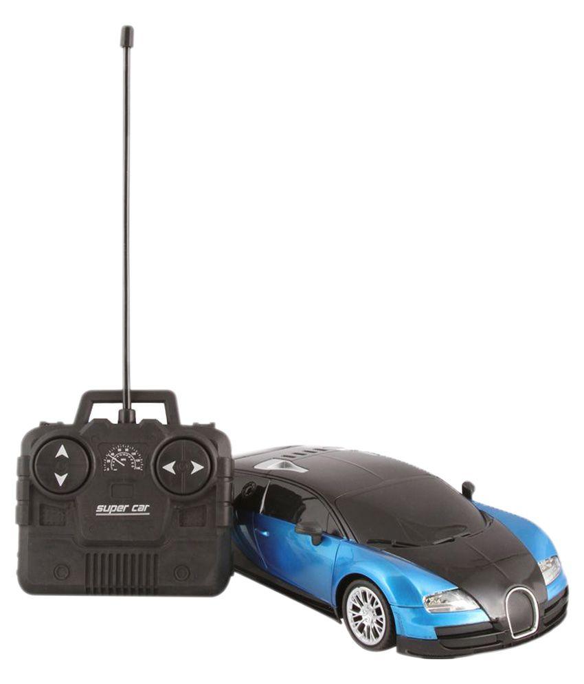 Fantasy India Blue Remote Control Rechargeable Bugatti Toy Car Buy