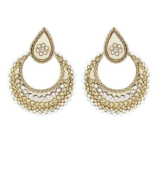 Forever Carat White Alloy Colour Spark Earrings