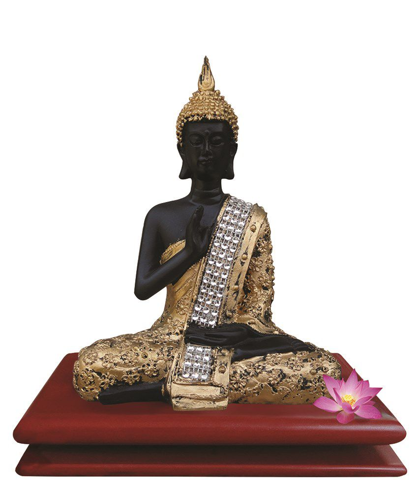 Tiedribbons Golden Lord Buddha With Stand