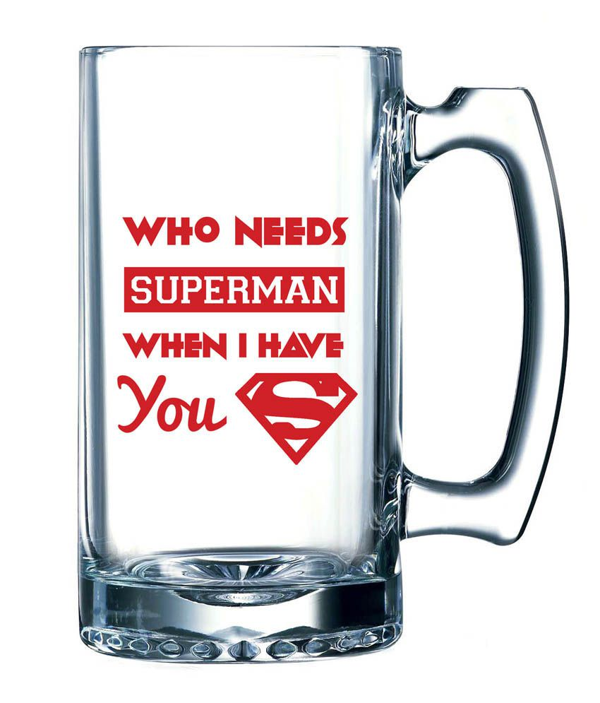 10 Am Who Needs Superman Beer Mug: Buy Online at Best Price in India ...