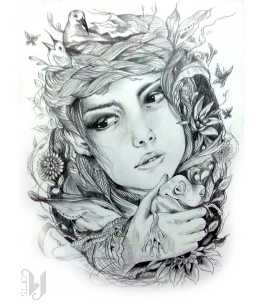 Vj arts mother nature pencil sketch buy vj arts mother nature pencil sketch at best price in india on snapdeal